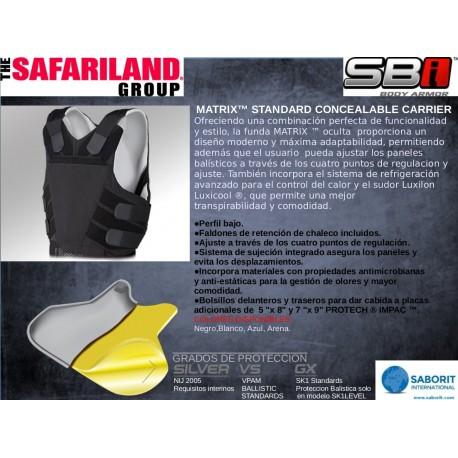 Panel de protección balística Safariland Armor NS01 Nivel NIJ II + Anticorte + Antipinchazo AÑO 2018